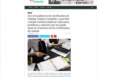 El medio online EnFranquicia se hace eco del GuíaBurros: Certificados de calidad